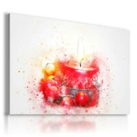 PAINTING DRAWING CANDLE CHERRY PRINT Canvas Wall Art  R76 UNFRAMED