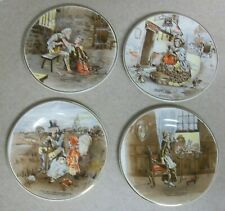 Staffordshire Miniature Plate Lot Sairey Gamp Little Nell Lucie Betsy Trotwood