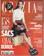 GRAZIA REVUE MAG 2014 - KATE MOSS, CHIARA MASTROANNI MAGAZINE MODE FEMME TBE