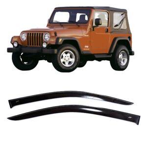 For Jeep Wrangler TJ 3d 97-06 Side Window Visors Sun Rain Guard Vent Deflectors