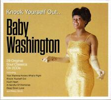 BABY WASHINGTON - KNOCK YOURSELF OUT - 20 ORIGINAL SOUL CLASSICS (NEW 2CD)