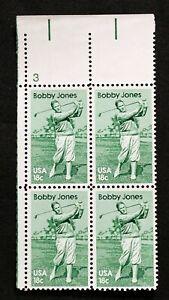 US Plate Blocks Stamps #1933 ~ 1981 BOBBY JONES 18c Plate Block of 4 MNH
