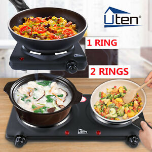 Electric Hob Cooker Stove Portable 1/2 Ring Hot Plate Stove 1000/2250W Table Top