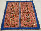 """63"""" x 61"""" Vintage Rabari Throw Embroidery Ethnic Tapestry Tribal Wall Hanging"""