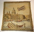 RARE Unusual 1909? Antique Tapestry Wright Brothers Airplane Over Italy? France?