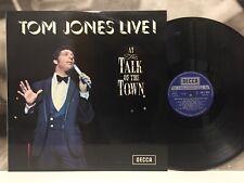 TOM JONES - TOM JONES LIVE ! AT TALK OF THE TOWN LP EX-/NM ITA DECCA SKLI 4874