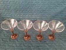 New listing Tupperware Martini/Wine Glasses (4) Amber Reduced