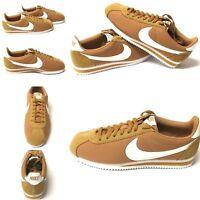 Nike Men's Classic Cortez Nylon Casual Shoe 807472-203 Muted Bronze/White