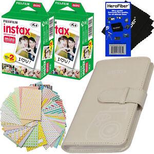Fujifilm Instax Mini 108 Photo Wallet Album,White +Instax Film,40shts +Stickers