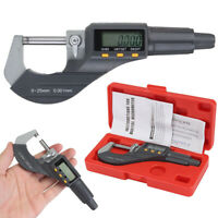 """Professional 0-25mm Digital Electronic Micrometer Outside 0-1""""/0.00005"""" LCD"""