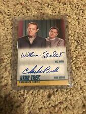 STAR TREK TOS DUAL-AUTOGRAPH CARD DA 16 William Schallert & Charlie Brill