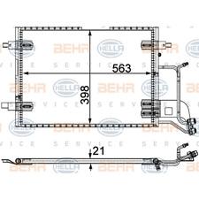 Kondensator Klimaanlage - Hella 8FC 351 301-401