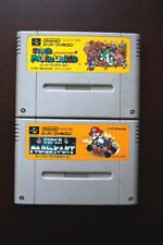 Super Famicom SFC Super Mario World + Mario Kart Japan games US Seller