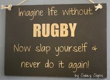 Imagine Life Without Rugby Kiwi New Zealand All Blacks Wallabies Football Sign
