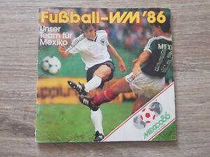 1986 Like Panini World Cup MEXICO 1986 Complete mini album rare German team WM86