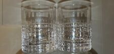 Crystal double old fashioned glasses 2 unmarked very high quality