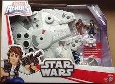 Star Wars Galactic Heroes Millennium Falcon Mit Han Solo & Chewbacca Neu Und OVP