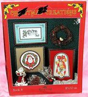 Stoney Creek Raindrop Christmas Creations Cross Stitch Leaflet Santa Kitten Bell