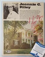 JEANNIE C. RILEY SIGNED BECKETT BAS COA AUTOGRAPHED COUNTRY MUSIC SINGER RARE