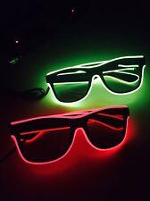 2 x Pairs Of Tomorrowland LED Flashing Glasses! Light Up Battery Sunglasses EDM
