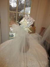 IVORY flapper bridal headpiece with veil