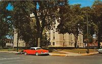 VALPARAISO INDIANA COUIRT HOUSE~1957 TWO TONE BUICK COUPE POSTCARD 1950s