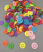 100pcs Mixed Colors Smiley face Die Cut Felt Appliques Cardmaking decoration 17m