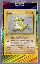 🌈Sabelette - Set de Base Edition 1 - 62/102 - Carte Pokemon Neuve Française