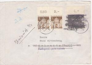 Bund-Postkrieg Brief zurück und Marke geschwärz, Brief Hannover nach Vogtl./DDR