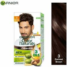 Garnier Color Naturals Creme Men Nourishing Hair Color- 3 Darkest Brown 30ml+30g