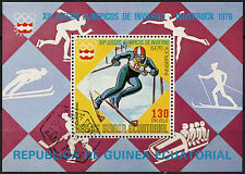 Equatorial Guinea 1976 Winter Olympics Cto Used M/S #A92712