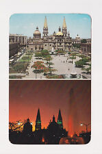 Two aspects of the Cathedral  Guadalajara Jal. Jalisco  Mexico postcard