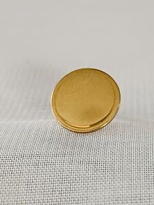 Vintage 14k Gold Blank Monogram Pin 10mmDia.