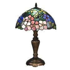 Dale Tiffany Fox Peony Tiffany Table Lamp, Antique Bronze - STT16081