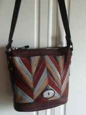 Fossil Maddox Patchwork Bag In A Combination Of Leather And Suede