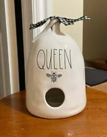 "NEW Rae Dunn ""QUEEN"" Bee Hive Birdhouse"