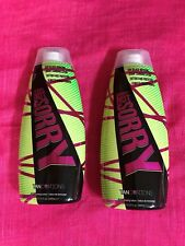 ED HARDY SORRY NOT SORRY ~EXTREMELY DARK 50 X BRONZER~100% AUTHENTIC~LOT OF 2~~