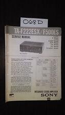 Sony TA-F222ESX F500ES Service Manual original repair book stereo amp amplifier