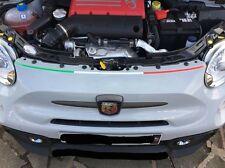 Abarth 500 595 Bonnet Shut & Boot Roof Spoiler Italian Flag Decal Set. 500c 595c