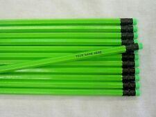 "24 Hexagon ""NEON Green"" Personalized Pencils"