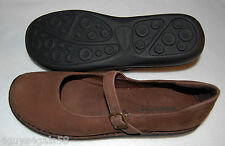 WOMENS SHOES Rockport BROWN LEATHER Mary Jane's BUCKLE STRAP  9.5 M
