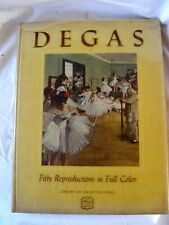 DEGAS FIFTY REPRODUCTIONS IN FULL COLOR DANIEL CATTON RICH FIRST EDITION 1951