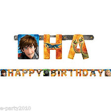 HOW TO TRAIN YOUR DRAGON 2 HAPPY BIRTHDAY BANNER ~ Party Supplies Decorations