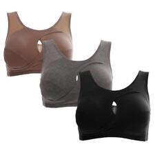 3Pcs Women's Seamless Wireless Sports Yoga Bra Crop Top Vest Bras Shapewear