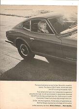 ORIGINAL VINTAGE 1970 DATSUN 240Z AMERICAN 2 PAGE ADVERT