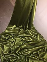 """1 MTR  QUALITY OLIVE GREEN CREPE BACK SATIN FABRIC...58"""" WIDE"""