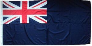 Blue ensign traditionally sewn MoD approved woven flag fabric marine UK boat