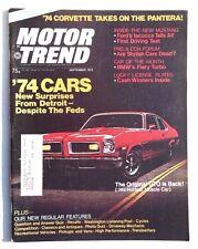 Vtg Hot Rat Rod Car Magazine - September 1973 MOTOR TREND (Corvette Vs Pantera)