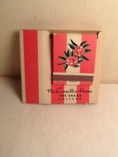1940 The Camellia House Drake Hotel Chicago Adverap Cigarette Cover & Matchbook