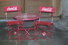 1 table et 2 chaises COCA COLA en métal  ,tres rare , le tout est neuf !!!!!